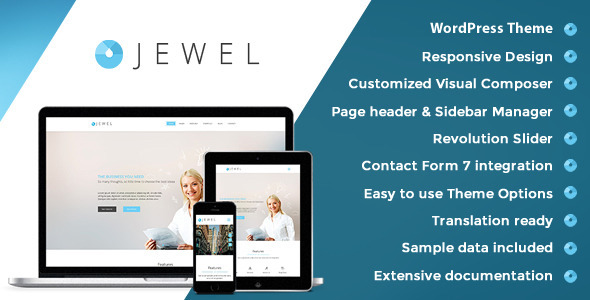 Download Jewel - Responsive Business WordPress Theme nulled download