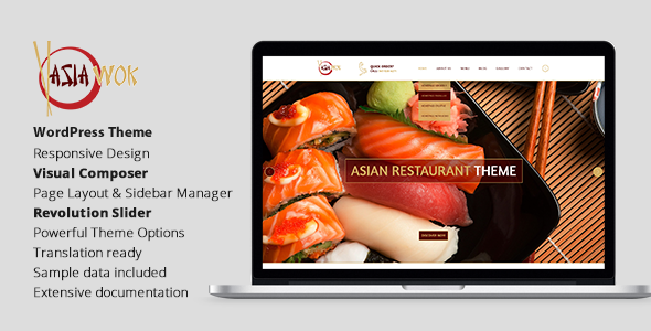 Download Asia Wok – Responsive Restaurant WordPress Theme nulled download