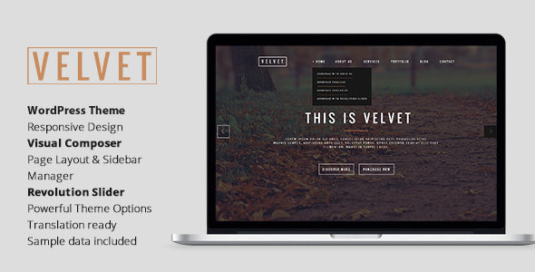 Download Velvet – Responsive OnePage WordPress Theme nulled download
