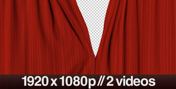 Realistic Red Curtains Opening Series of 2