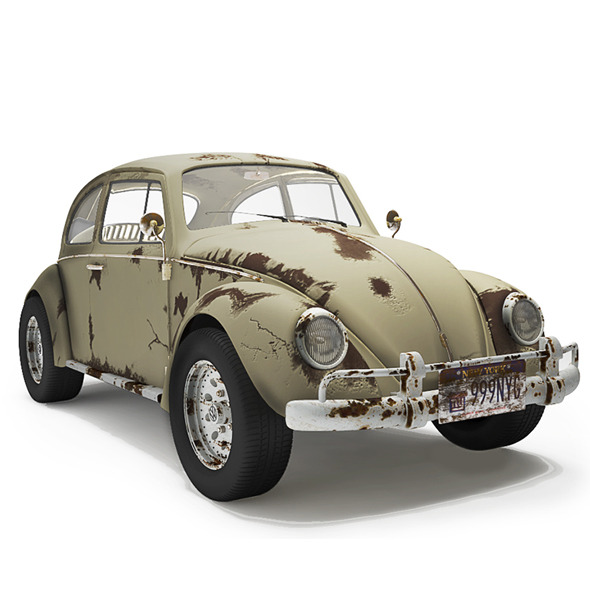 Volkswagen Bettle - Dirty - 3DOcean Item for Sale