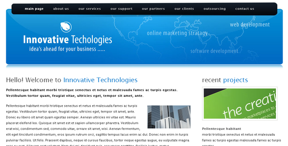 Innovative Technologies Html Template - Technology Site Templates