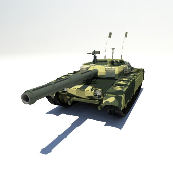 MBT-2000 Tank - 3DOcean Item for Sale