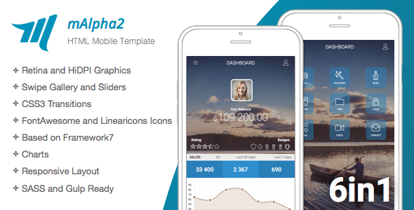 mAlpha2 | Mobile Responsive Template - Best Theme This Week