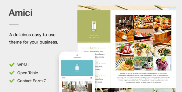 Download Amici - A Delicious Responsive Restaurant & Cafe Theme nulled download