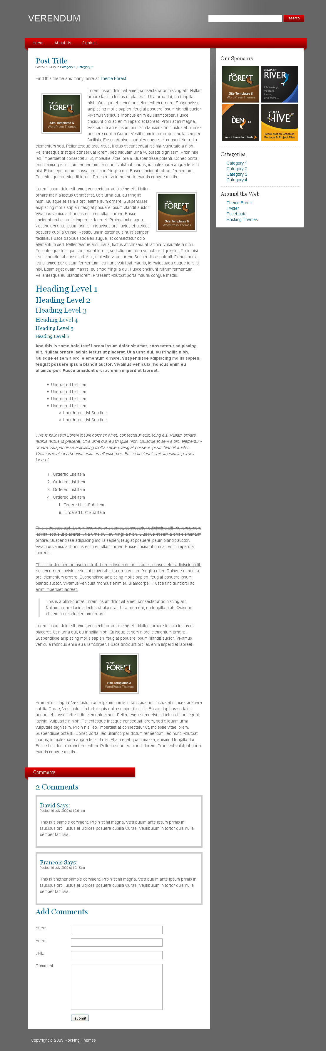 Verendum HTML Business Portfolio - Verendum HTML Business Theme - Post Page