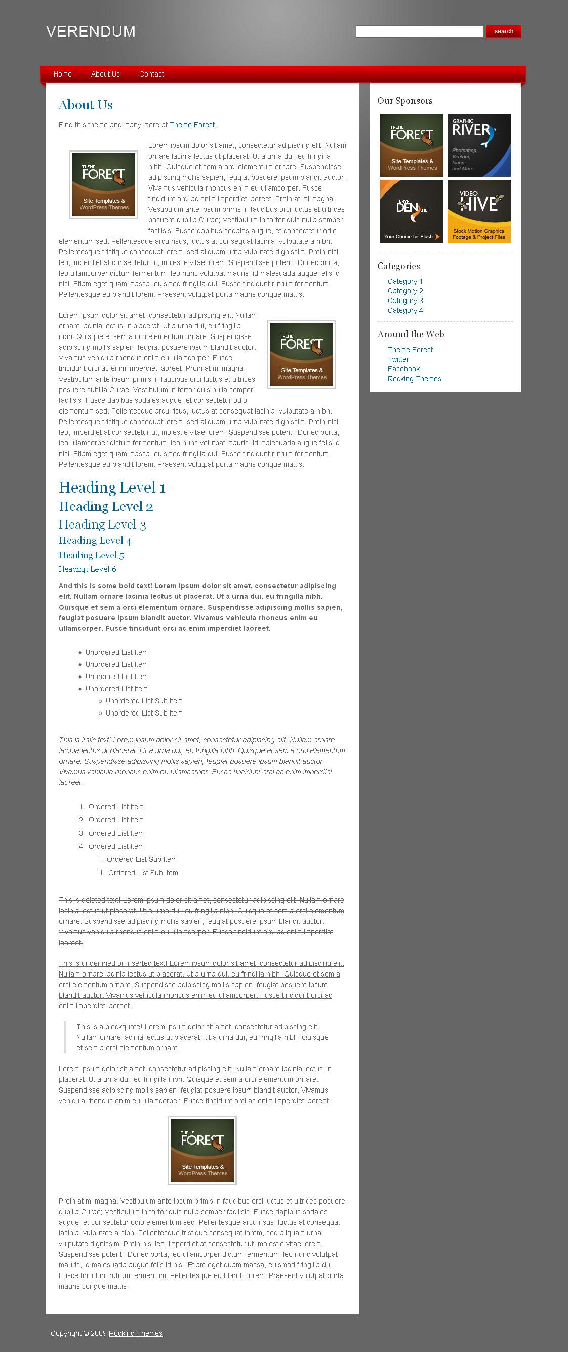 Verendum HTML Business Portfolio - Verendum HTML Business Theme - General Page