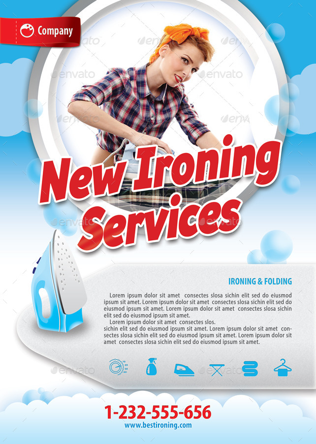 Laundry services offer flyer template 119 by 21min for Laundry flyers templates
