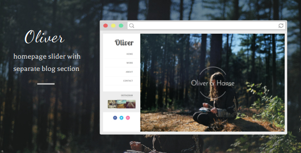 Oliver - Responsive Blogger Template