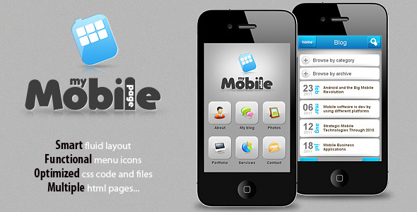 My Mobile Page V2 - ThemeForest Item for Sale