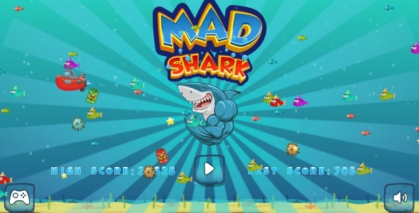 Mad Shark - HTML5 Game, Mobile Version + AdMob!!! (Construct-2 CAPX) - CodeCanyon Item for Sale