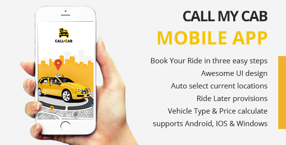 CodeCanyon Call MyCab Mobile APP 13223636