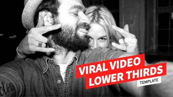 AE模板:清爽干净平面设计风格电视广播视频字幕条模版Viral Video Lower Thirds Template免费下载