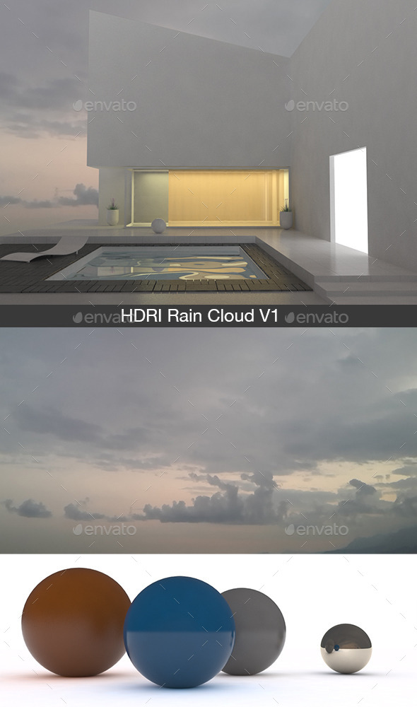 Rain Cloud V1 - 3DOcean Item for Sale