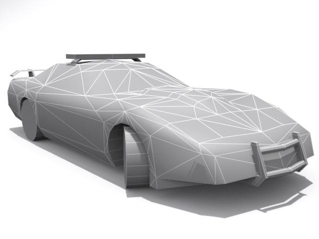 Police Chevrolet Corvette - Base - 3DOcean Item for Sale