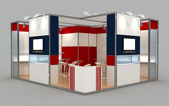 (1) Exhibition Stand 7x6 Maxima - 3DOcean Item for Sale