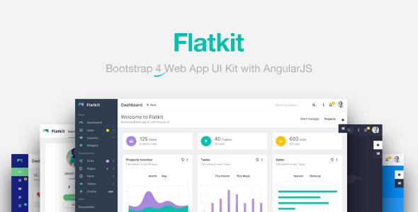 7. Flatkit | App UI Kit