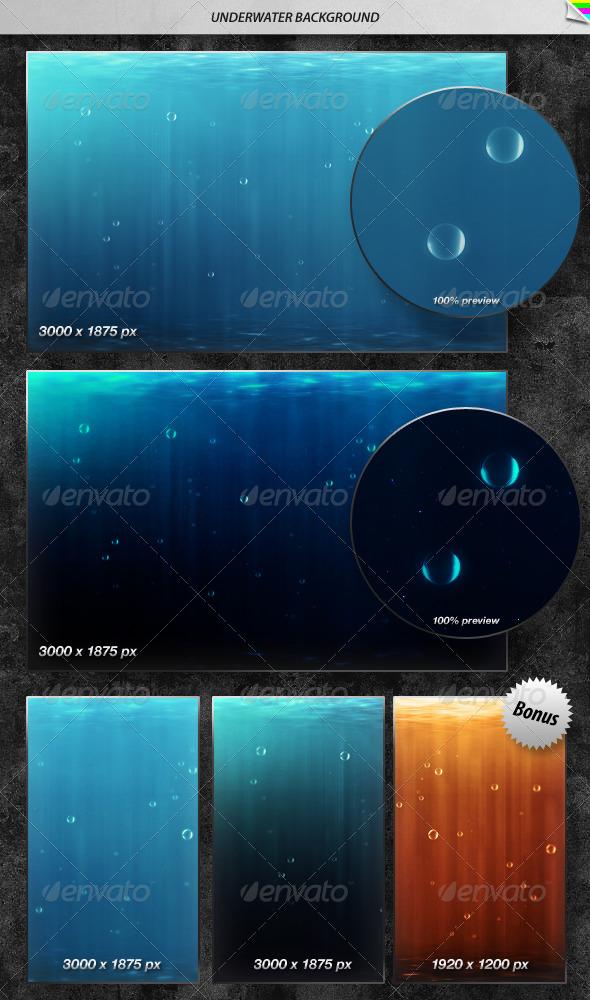 GraphicRiver Underwater Background 158886