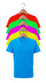 Color male t-shirts isolated on white