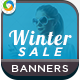 HTML5 Winter Sale Banners - GWD - 7 Sizes