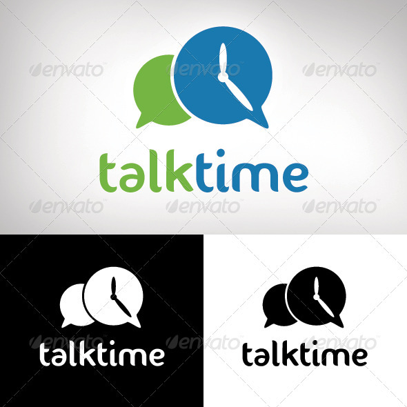 TalkTime Logo Design