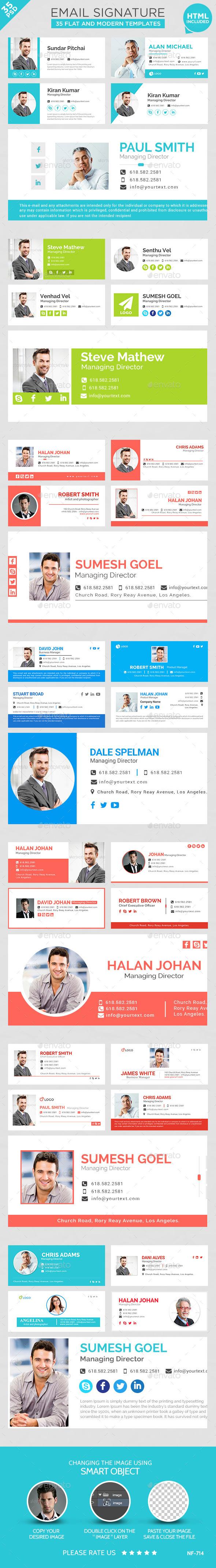 Email Signature - 35 Templates