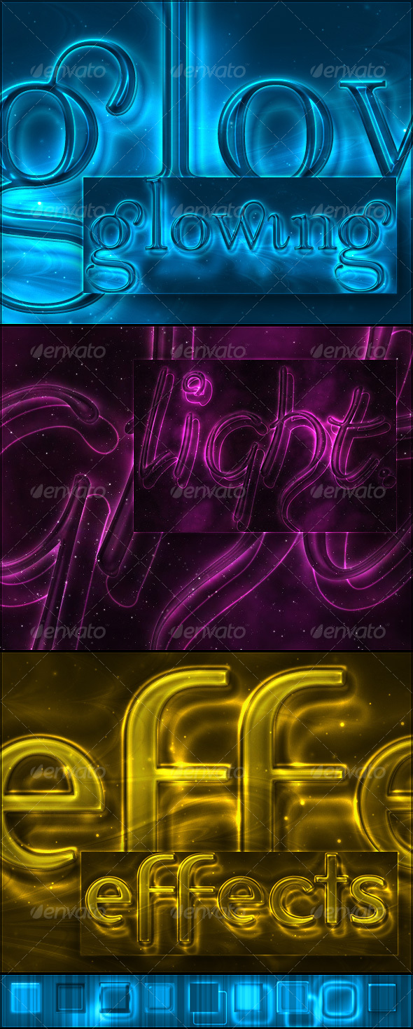 Glowing Light Text Effect and Styles - Text Effects Styles
