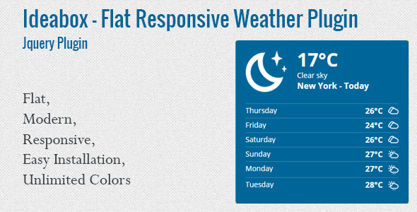 Ideabox - Flat Responsive Weather Plugin
