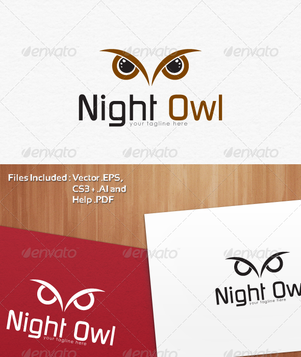 Night Owl Logo Templates