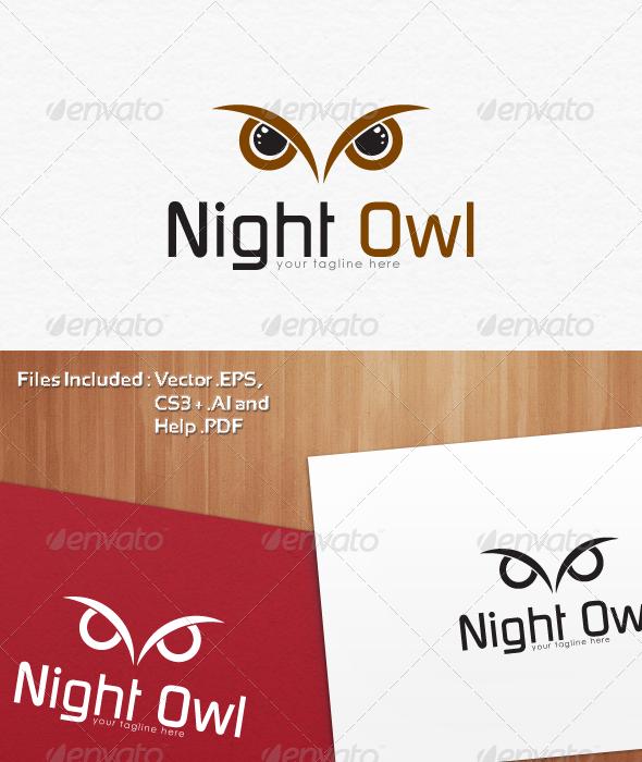 Night Owl Logo Templates