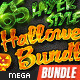 65 Layer Style Halloweeen Mega Bundle