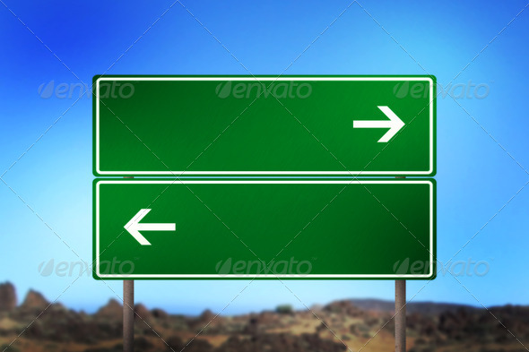 Double Blank Road Sign - Stock Photo - Images