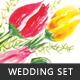Painted Tulips Wedding Set