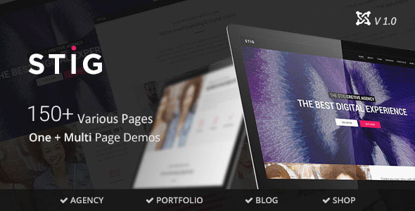 Stig - Multipurpose One/Multi Page Joomla Template