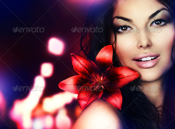 Beautiful Young Woman Portrait - Stock Photo - Images
