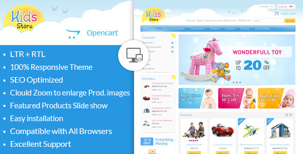 Kids Store - OpenCart Responsive Theme