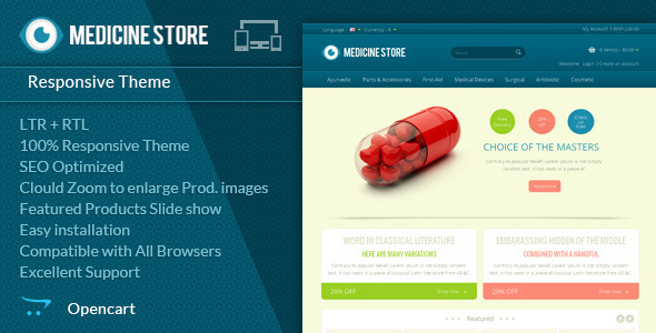 Medicine - Pharmacy Opencart Theme