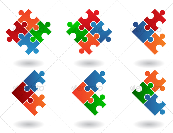 GraphicRiver jigsaw icons 52774