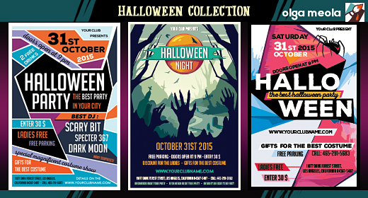 Halloween Flyers & backgrounds