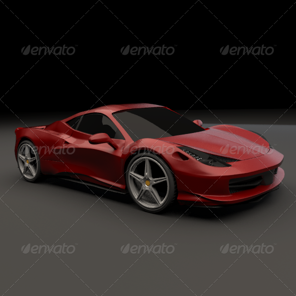 3DOcean Ferrari 458 restyled 159087