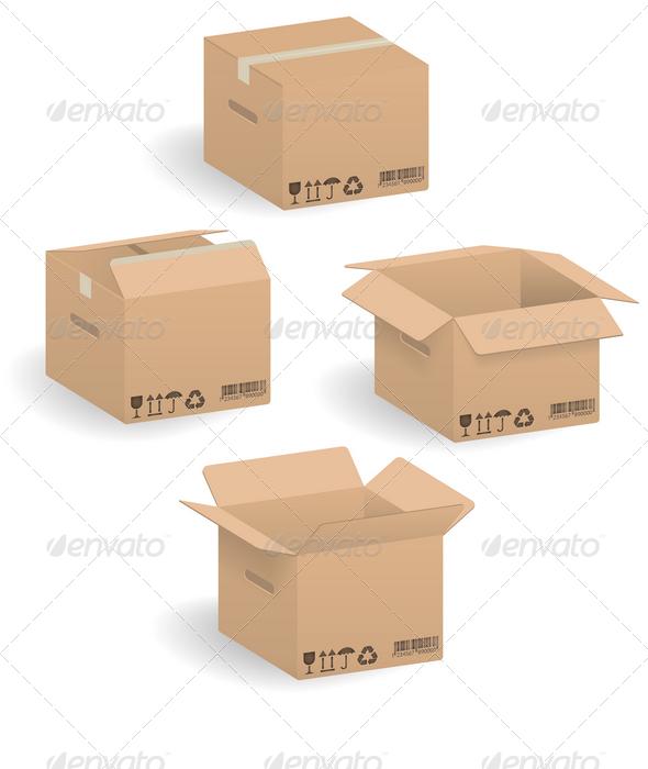 GraphicRiver Cardboard boxes 1328481