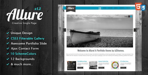 Allure - HTML5 Portfolio Theme