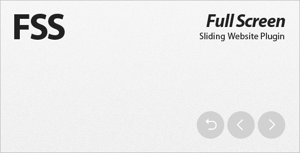 CodeCanyon FSS Full Screen Sliding Website Plugin 159103