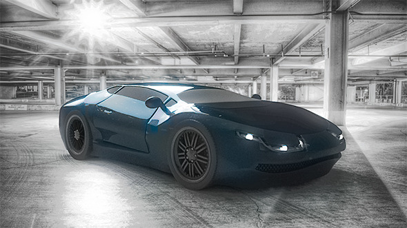 Sport Car Concept Random Design - 3DOcean Item for Sale