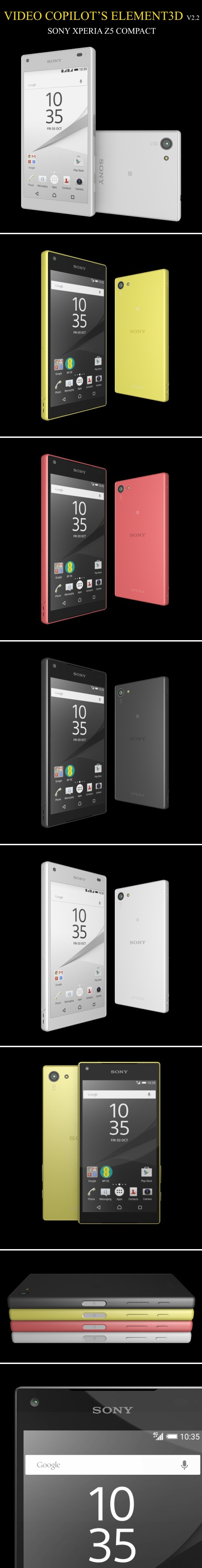 Element3D - Sony Xperia Z5 Compact - 3DOcean Item for Sale