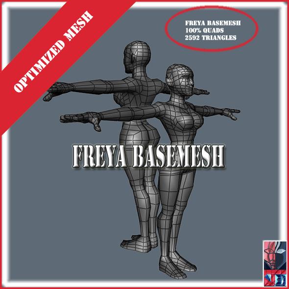 Freya basemesh - 3DOcean Item for Sale