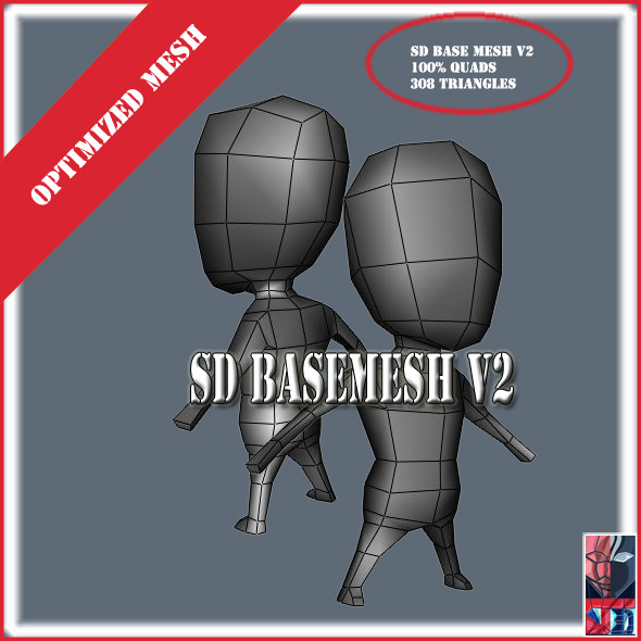 SD Basemesh V2 - 3DOcean Item for Sale