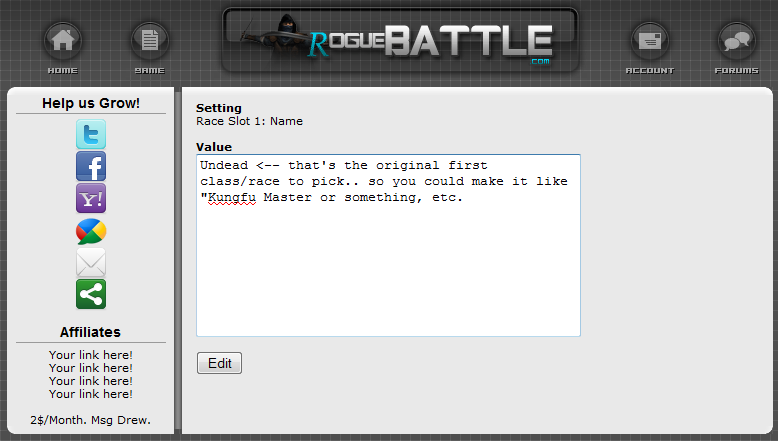 rogueBATTLE RPG Script