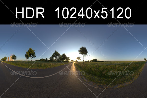 3DOcean Road in fields 1 with Plates 1329297
