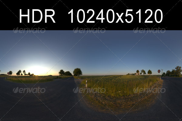 3DOcean Road in Fields 2 with Plates 1329309